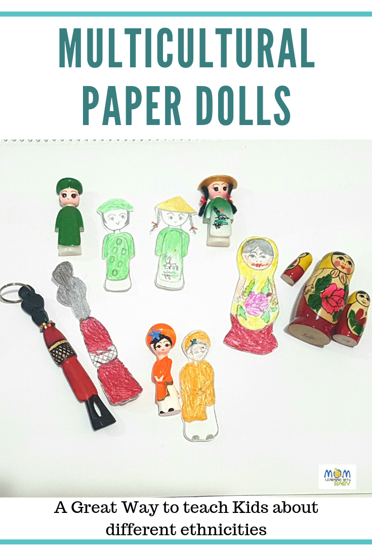 Multicultural Paper Dolls – Easy Craft for Kids