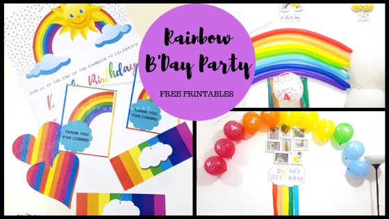 How to Plan a Budget-Friendly Rainbow Themed B'day Party – Free Printables