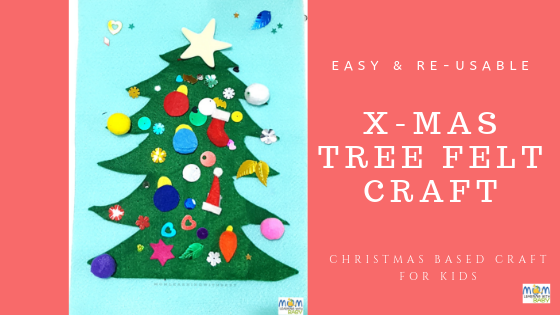 X-mas Tree: Re-usable Felt Craft