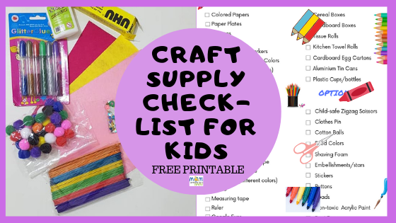Must Have Craft Supplies for DIY Moms & Kids – FREE PRINTABLE