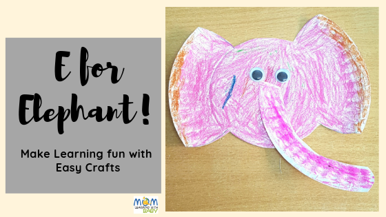 E for Elephant – Paper Plate Craft