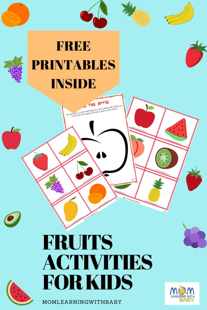 Fruit Activities for Preschoolers- Free Printables
