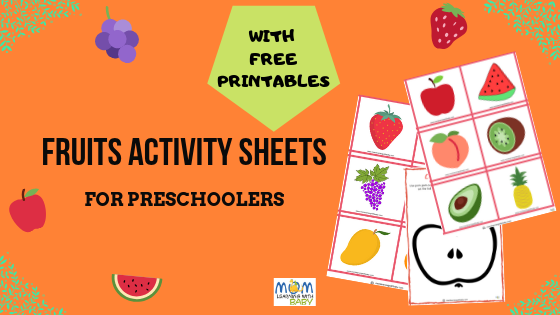 Fruits Activity Sheets