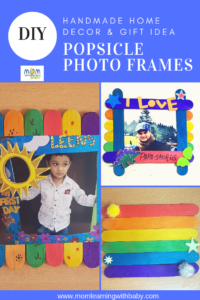Popsicle photo frames