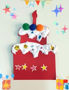 Christmas craft cake