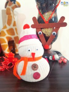 No -Sew Snowman Craft