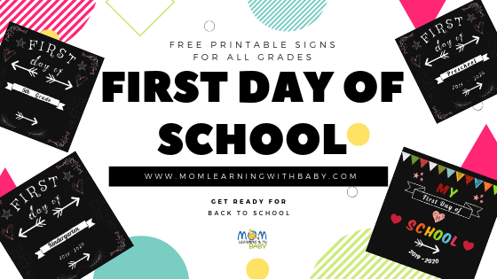 First Day of School Signs- All Grades – FREE Printable