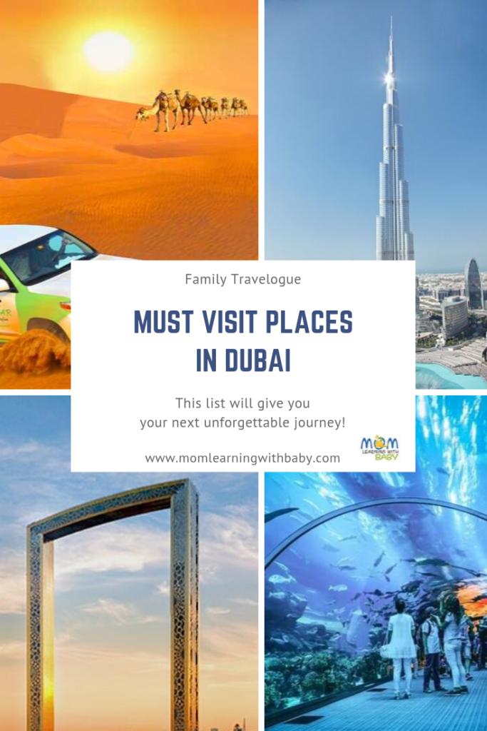 Must Visit Tourist Places in Dubai