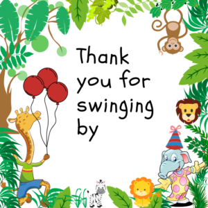 Jungle Theme Thank u note