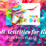 Holi Activities for kids- Free Printable