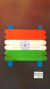 Popsicle Indian Flag Craft