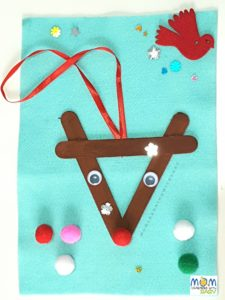 Popsicle Reindeer Christmas Craft
