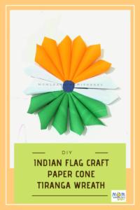 Indian Flag Craft- Wreath