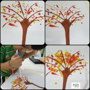 Tree Craft with Straw