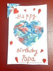 Marbled birthday card