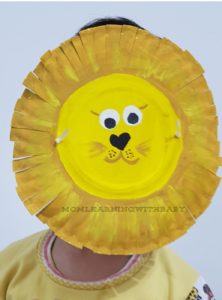 Paper Plate Lion Mask