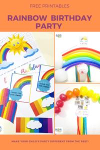 Rainbow Themed Party Printable